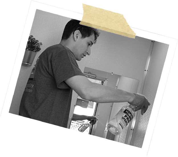 Volunteer cleaning