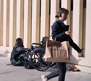 person experiencing homelessness