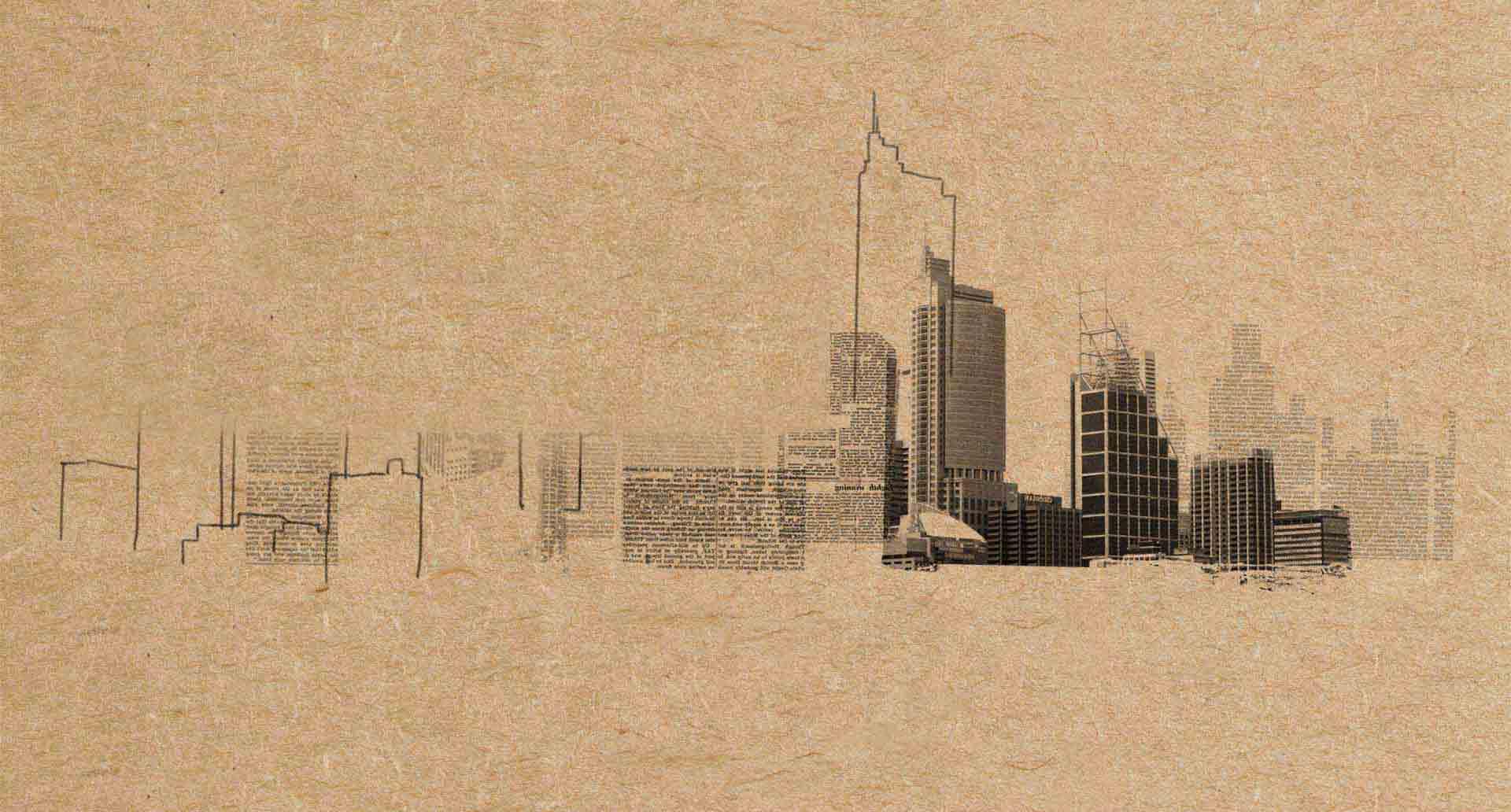 City skyline sketch